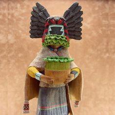 Hopi Crow Mother Kachina Doll by Woody Sewemaenewa