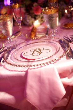 Easy Monogram on clear plate