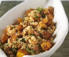 Rezept: Couscous mit Cashewkernen und Kürbis