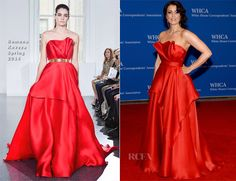 Bellamy Young In Romona Keveza – 100th Annual White House Correspondents' Association Dinner #red #fashion #gown