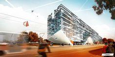Rustonka Business Center | HELIKA | 2011 | V0631  vizualizace | exteriérové vizualizace