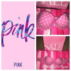 PINK Strapless Bra Adorable light pink and white polka dot strapless bra. Light padding and underwire. No flaws! PINK Victoria's Secret Intimates & Sleepwear Bras