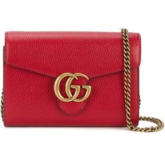 Gucci GG Marmont shoulder bag (21.225 ARS) ❤ liked on Polyvore featuring bags, handbags, shoulder bags, red, leather purses, crossbody purses, gucci purse, leather handbags and gucci handbags