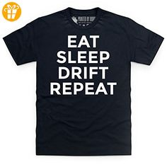 Eat Sleep Drift Repeat T Shirt, Herren, Schwarz, L (*Partner-Link)