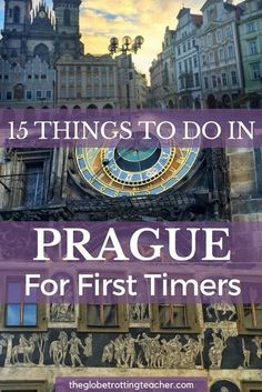 Planning to travel to Prague? Here are 15 Things to Do in Prague For First-Timers + a FREE Cheat Sheet to take with you on your Prague trip! | #Prague #CzechRepublic #Travel #bucketlist #wanderlust #EasternEurope