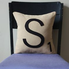 Letter S Pillow now featured on Fab.
