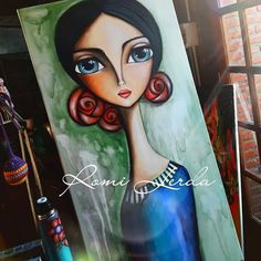 Image may contain: 1 person Acrylic Painting Canvas, Fabric Painting, Painting & Drawing, Canvas Art, Art Photography Portrait, Portraits, Arte Pop, Face Art, Indian Art