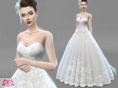 Dress - bridal headdress  Found in TSR Category 'Sims 4 Sets'