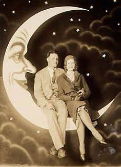 Vintage paper moon backdrop instructions