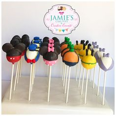 Ideas For Cars Cake Pops Cream Cheeses Cake Pops Mickey Mouse, Mickey Mouse Party Decorations, Fiesta Mickey Mouse, Mickey Mouse Clubhouse Birthday Party, Mickey Mouse Parties, Mickey Party, Mickey 1st Birthdays, Mickey Mouse First Birthday, 3rd Birthday