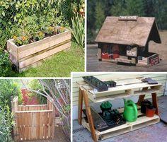 Pallet furniture for the garden