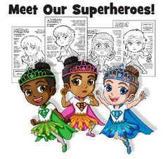 Makingfriends.com has new Girl Scout Superheroes! These girls each have a superpower, one for each part of the Girl Scout Law. You can even earn badges with our Girl Scout Superhero Printables!