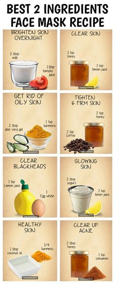 10 Amazing 2 ingredients all natural homemade face masks