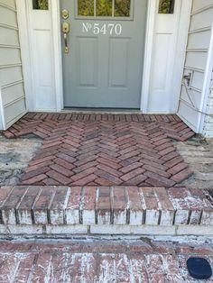 Brick Porch, Brick Paver Patio, Brick Patios, Brick Garden, Porch Flooring, Brick Flooring, Home Renovation, Home Remodeling, Pavers Over Concrete