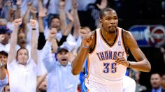 Kevin Durant and the Thunder defeat the Spurs 107-99 and move on to the NBA FINALS!  Oklahoma City is in Pand-o-lerium right now!!