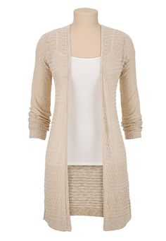 Long open front side slit cardiwrap (original price, $34) available at #Maurices