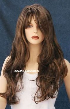 New LONG BROWN STRAWBERRY BLONDE WIG HSJO 4-27