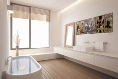 Minimalismus v koupelně :)