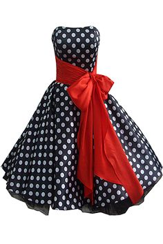 OMG! How amazing is this 50's style dress with black and white spots!!! LOVE