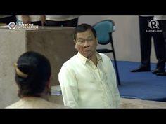 Duterte shakes De Lima's hand at SONA 2016 - YouTube