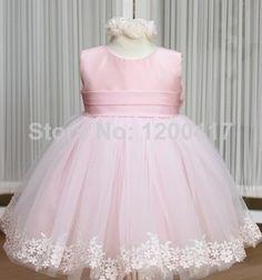 partido alto grau da princesa vestidos etail rosa vestidos da menina da menina chiffon bowknot Big dresse vestido roupas para crianças em Vestidos - Meninas de Roupas & acessórios no AliExpress.com