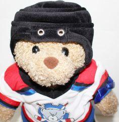 Build A Bear BAB Hockey Player Skater Helmet Skates Shirt Jersey Briefs Stand…