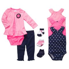 $41 Flamingo Friends 9-Piece Gift Bundle | Baby Girl Flamingo Friends