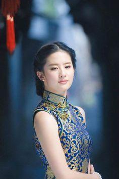 """elderlygamer: """"Liu Yifei in Blue Qipao Source::: """" Asian Woman, Asian Girl, Collection Eid, Cheongsam Modern, Beautiful Chinese Women, Cheongsam Dress, Oriental Fashion, Chinese Actress, Ao Dai"""