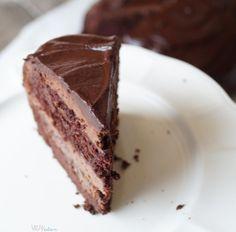 VEGANation: WEGAŃSKI TORT SACHERA Vegan Cheesecake, Vegan Cake, Vegan Sweets, No Bake Cake, Food Porn, Favorite Recipes, Baking, Sweet Recipes, Sugar