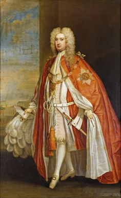 Portrait of Sir John Brownlow, later Viscount Tyrconnel, (1690-1754) by Charles Jervas (c1675-1739) in The Tyrconnel Room at Belton House