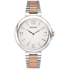 Bulova Women's 98L195 Analog Display Japanese Quartz Two Tone Watch   Top Source Deals for Watches and Accessories