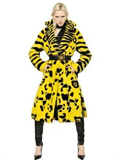 Versace Intarsia Mink Fur Coat on shopstyle.com