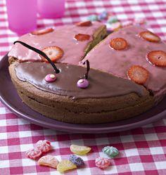 Gâteau d'anniversaire coccinelle - les meilleures recettes de cuisine d'Ôdélices
