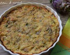 Gateau di carciofi Vegetable Recipes, Vegetarian Recipes, Cooking Recipes, Healthy Recipes, Gnocchi, Potato Galette, Focaccia Pizza, Go Veggie, Antipasto