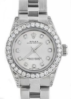 ROLEX WATCH FOR LADIES WITH REAL DIAMONDS OYSTER BAND