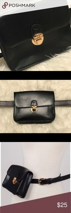 **Only 2 Left** Fanny Pack (Black Belt Bag) •One Size Fit Most •Faux Leather • It Has 7 holes to adjust •Belt Length: 42inches •Bag Length: 7inches •Color: 3 Black  ✨FINAL SALE✨ ✨NO REFUNDS✨ TopFashionBoutique Bags Crossbody Bags