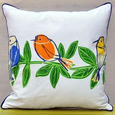 Singing Bird Single Line Cushion