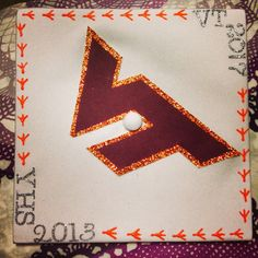 Virginia Tech graduation cap! #VT2017 #Hokies ❤️