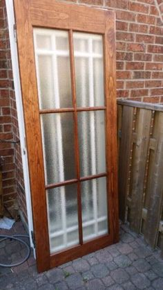 selling a solid wood door that is stained with a privacy glass that is 32\ x80\  1 1\2\  thick. pick up in scarborough. asking $75 & 8 panel frosted glass interior door Hamilton Ontario image 1 | doors ...