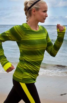 Beach Run Gear: ASICS Tee & Tights #Nordstrom