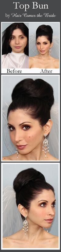 Top Knot Bun Hairstyle by Hair Comes the Bride