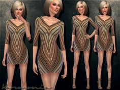 The Sims Resource: Knitted Wool Stretch Mini Dress by Harmonia Sims 4 Dresses, Sims Resource, Sims 4 Clothing, Sims 4 Custom Content, Sims 2, Bodycon Dress, Wool, Female, Mini