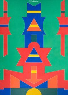 Rubem Valentim. Emblema 87. 70x50 cm