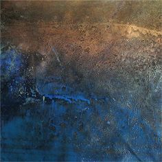 """Bobbette Rose, Wall Story, 2012, Encaustic Monotype on Paper, 11"""" x 11"""""""