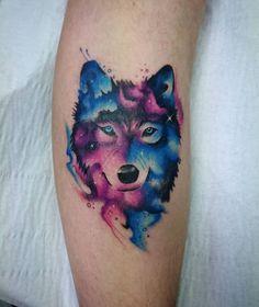 Wolf Tattoo Design, Heart Tattoo Designs, Tattoo Designs For Women, Wolf Tattoos For Women, Tattoos For Women Small, Unique Tattoos, Beautiful Tattoos, Colorful Tattoos, Geometric Tattoos