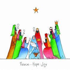 Resultado de imagen para joy christmas Christmas Nativity, Christmas Deco, Christmas Pictures, Christmas Colors, Christmas Art Projects, Christmas Paintings, Christmas Crafts, Christmas Tree Festival, Watercolor Christmas Cards