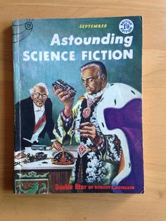 Vintage Astounding Science Fiction Pulp magazine September 1956 An attractive copy of the British Edition of Astounding Science Fiction, one of the leading Science Fiction magazines edited by John W. Campbell. September 1956 and containing stories by Robert A. Heinlein and Isaac Asimov. With illustrations. Slight wear & slight creasing to spine, covers & corners   https://nemb.ly/p/H1mN0R5fx Happily published via Nembol