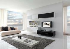 Wohnzimmer Einrichten Beispiele Minimalistisch Grauer Teppich