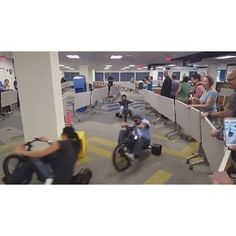 Sometimes you just need to move the tables out of the way in the Great Room and have a big wheel race! Image credit: Michael Nir #CTCTLife