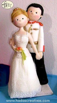 https://flic.kr/p/6h7MTt | Novios militares | Novios personalizados para pasteles de bodas Porcelana Fria www.hadastraviesas.com geraldineporcelana@gmail.com
